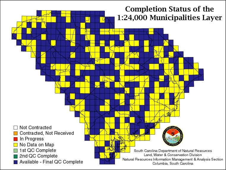 Scdnr municipal boundaries data layer status for Sc dnr fishing license