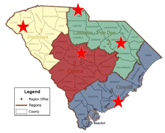SC Department of Natural Resource Regions