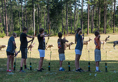 Youth archers - photography by Cindy Thompson