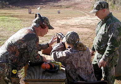 The S.C. Department of Natural Resources will sponsor youth deer hunts in the Piedmont region this fall. Participants will be required to complete a short training course on gun safety and go to the rifle range and fire the gun they will be using during the hunt. (DNR photo)
