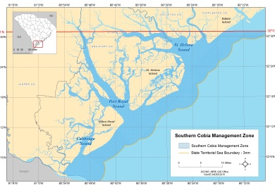 Southern Cobia Management Zone map