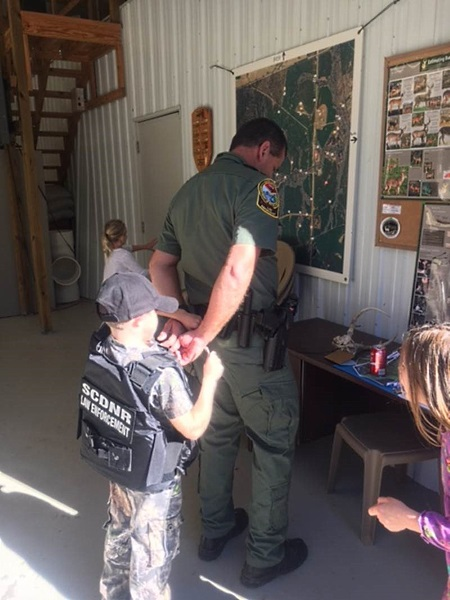Six SCDNR officers hosted a deer hunt at Clouds Creek Farm in Ridgespring Nov. 4 for five children who have been diagnosed with life-threatening illnesses