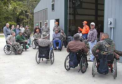 Mobility impaired deer hunt