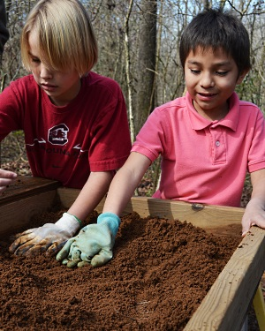 The Kolb Site has hosted many school groups through the years. Students of all ages can help archaeologists.