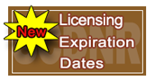 Licensing Expiration Date Changes
