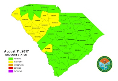 All counties within the state are now in normal or incipient drought status