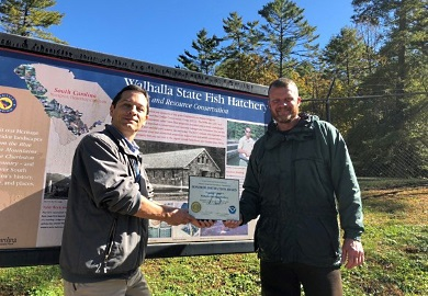 Walhalla State Fish Hatchery awarded for decades of service
