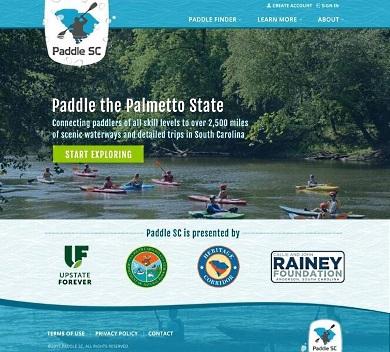 El nuevo sitio web GoPaddleSC incluye una amplia variedad de descripciones de 63 vías fluviales, 108 viajes en embarcaciones de remo, 390 puntos de interés y 612 puntos de acceso a ríos.