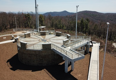Sassafras Mountain Tower opens on South Carolina's highest point