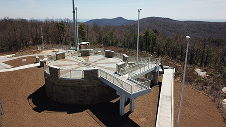 Sassafras Mountain Tower in northern Pickens County. (SCDNR photo by Danielle Kent)