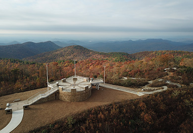 Sassafras Mountain Tower closed in response to COVID-19 -(SCDNR photo by Danielle Kent)