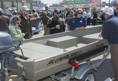 Springtime is prime time for South Carolinians attending the Palmetto Sportsmen's Classic and other outdoor expos to shop for good deals on new boats. Both aspiring and current boat owners need to be aware of changes to how boat taxes and registration renewal fees are collected in the Palmetto State that will be implemented beginning in 2020. [SCDNR photo by Joey Frazier]