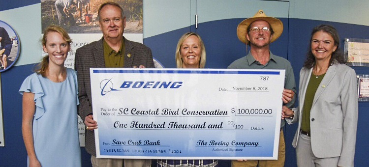 Boeing South Carolina gives $100,000 to fuel Crab Bank restoration