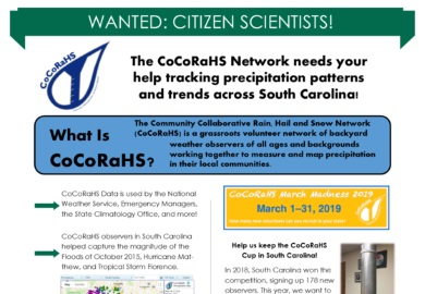 Become a CoCoRaHS observer today!