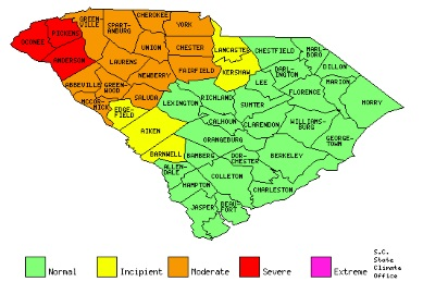 Updated county drought statuses as of 2/2/17