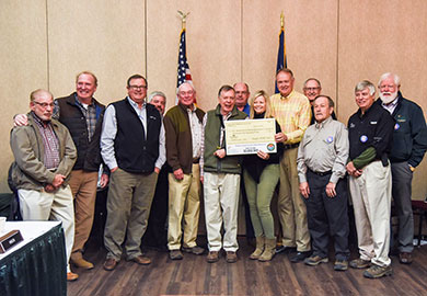 Members of the Hampton Wildlife Fund board of directors presented SCDNR officials with a donation of $150,000 on March 23, 2018 in Columbia