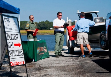 Courtesy boat inspections will be hosted around the state on Sunday, Sept. 2 and Monday, Sept. 3. (SCDNR photo)
