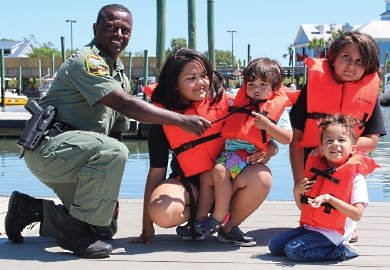 Life Jacket Loaner Station Opening in Murrells Inlet