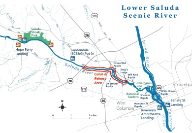 A new law passed by the S.C. General Assembly in May establishes a catch-and-release-only zone for brown and rainbow trout on the lower Saluda River near Columbia.