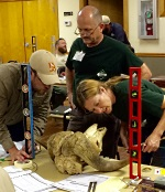 Tri-state wildlife biologists train for measurer certifications