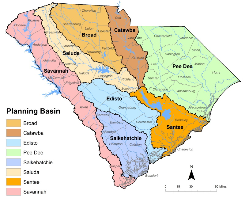 Carolina del Sur tiene ocho cuencas hidrográficas principales, y cada una de ellas contará con su propio Consejo de Ciudadanos en los próximos años.
