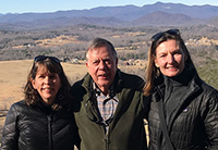 SCDNR Board Chairman Norman Pulliam (center) is pictured with Upstate Forever Director of Energy & State Policy Shelley Robbins (left) and Executive Director Andrea Cooper. Pulliam was honored by Upstate Forever with its Tommy Wyche Land Conservation Champion award.