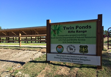 Multiple agencies were involved in planning and funding the renovated Twin Ponds shooting range. The primary source of funding was through Wildlife Restoration Fund excise taxes paid by sportsmen and women on firearms, ammunition and other hunting gear.