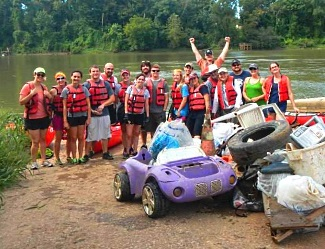 Volunteers for the 2014 River Sweep on the Congaree