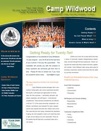 Camp Wildwood Newsletter