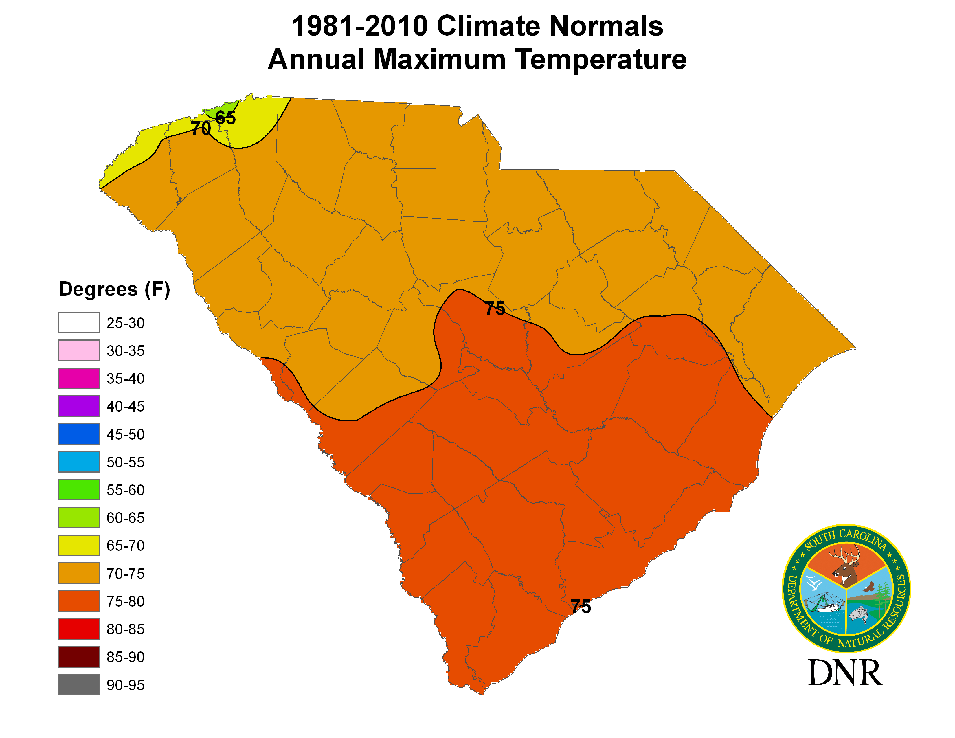 South Carolina State Climatology Office - South carolina elevation map