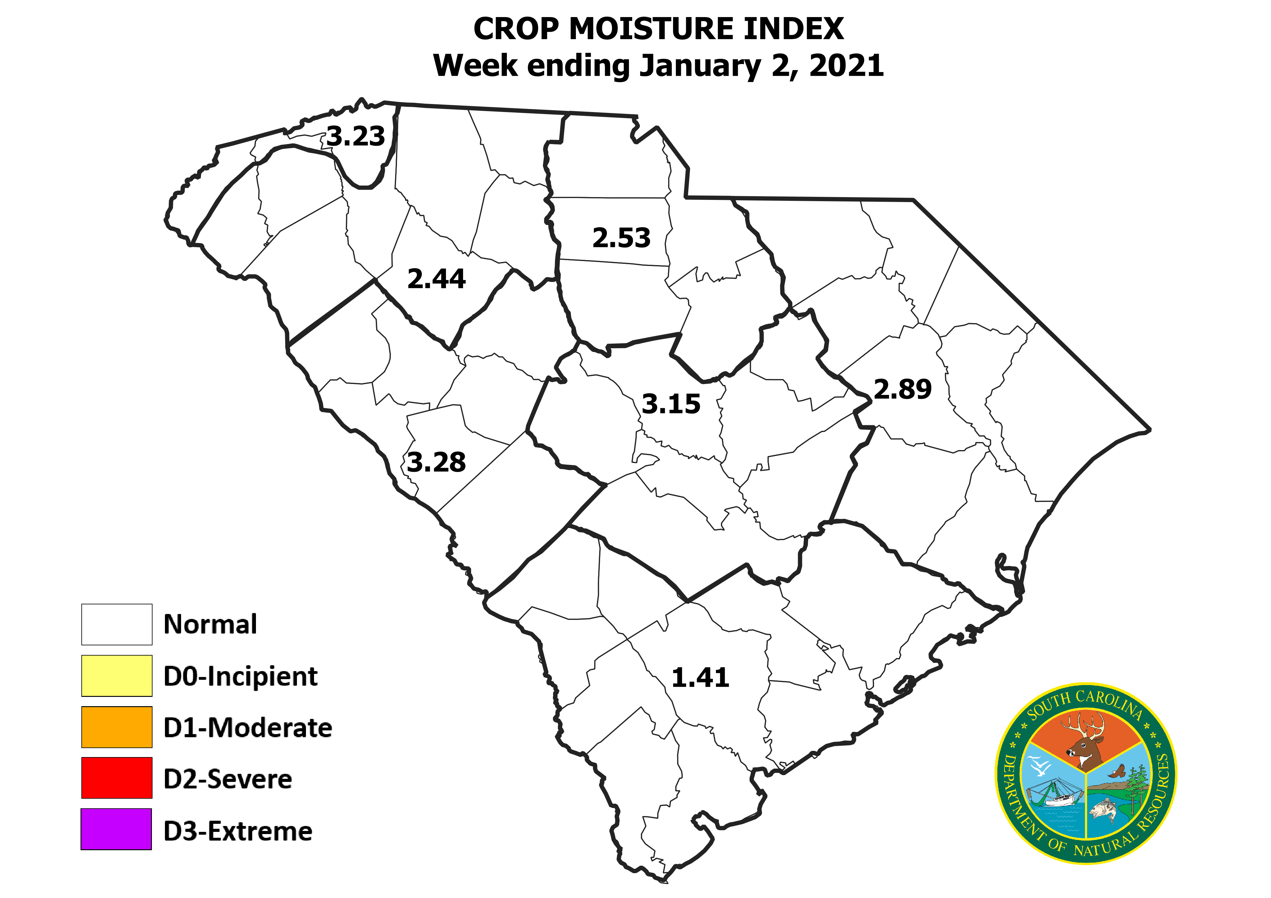 Thumbnail of Crop Moisture Index map.