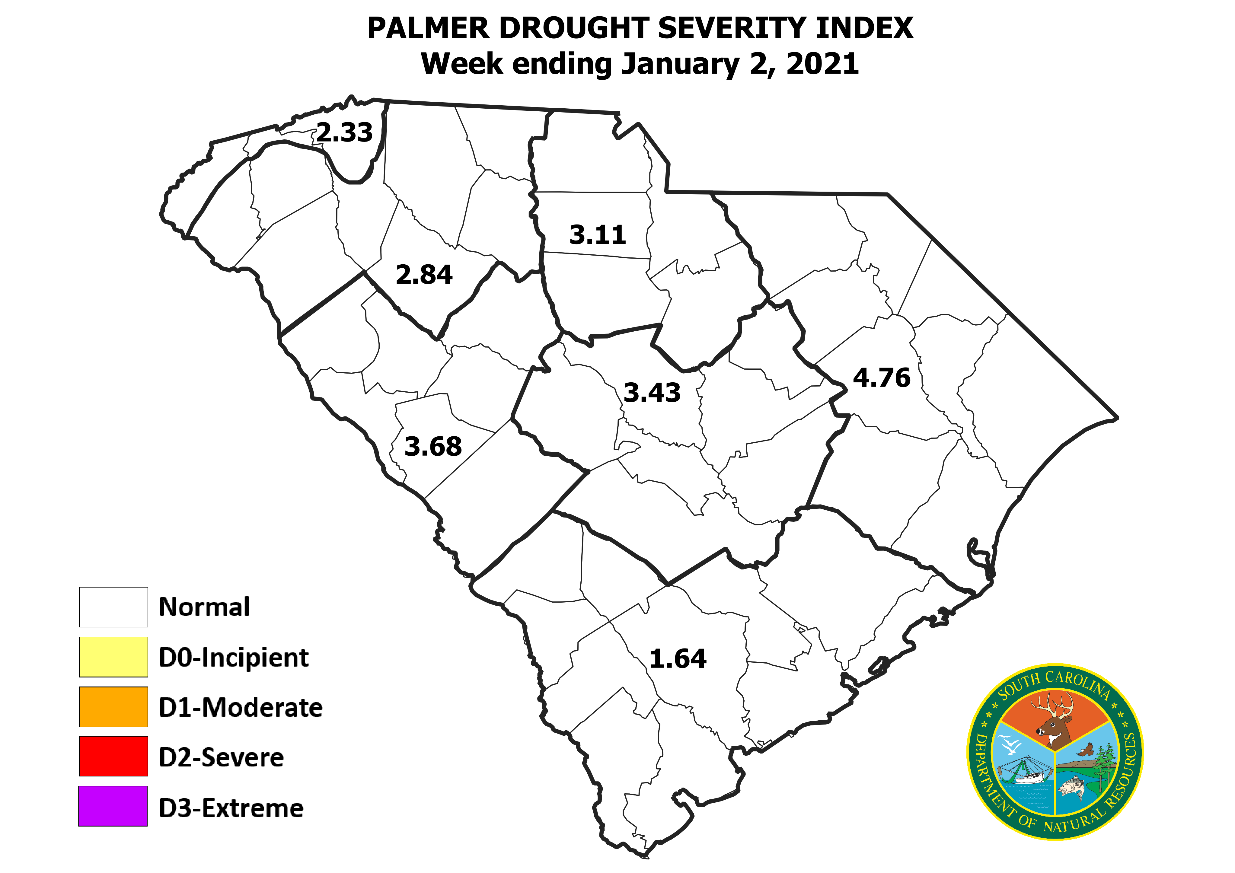 Thumbnail of Palmer Drought Severity Index map.