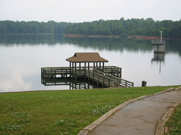 Bank pier access for Fishing in greenville sc