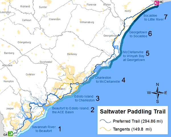 SCDNR   Southeast Coast Saltwater Paddling Trail