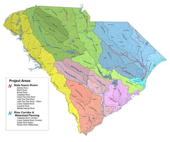 SCDNR - Scenic Rivers - Water Basins