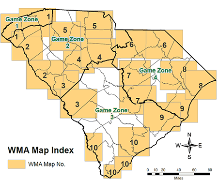 SCDNR Wildlife Management Area Maps - Maps of sc